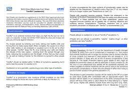 Nhs Direct Medicines Fact Sheet