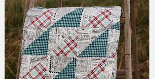 Make A Quilt For The Man In Your Life With Newsprint Fabric ... & quilts for men newspaper print fabric Adamdwight.com