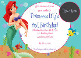 little mermaid printable birthday invitations drevio invitations ariel little mermaid printable birthday invitations