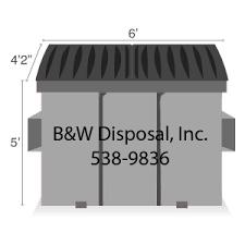 Dumpster Size Chart Dumpster Rental B W Disposal