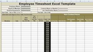 How To Keep Track Of Employees Time Employee Timesheet Excel Template Is Specially Design For
