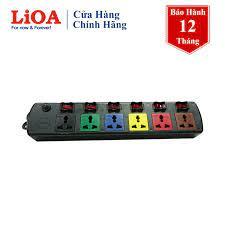 Ổ cắm điện đa năng LiOA 10 ổ cắm 3m x 2 4D6S32 (Đen)