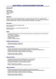 2 Electrical Design Engineer Resume Samples