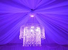 backyard chandelier lighting