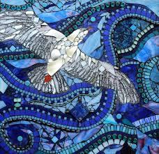 wall art ideas design seagulls bird flying glass mosaic wall art ocean waves animals motifs amazing artistic glass mosaic wall art mixed premium materials