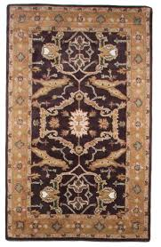 new traditional hand tufted wool 5x8 area oriental rug purple green yellow