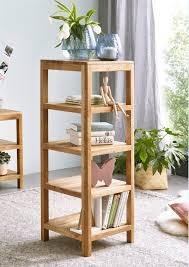 Regal Holz Standregal Wildeiche Massiv Bücherregal Montiert