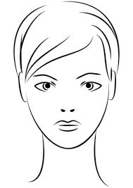 Small Picture Young Woman Face coloring page Free Printable Coloring Pages