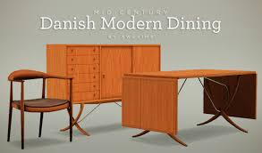 danish modern dining set for the sims 3 by awesims