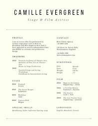 Audition Resume Templates Customize 88 Acting Resumes Templates Online Canva