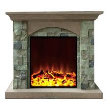 stone look electric fireplace a stone look decorative electric fireplace