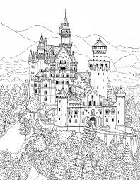 coloring page castle buildings and architecture 90 printable coloring pages