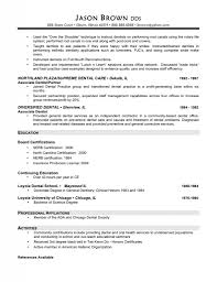 6 Dental Resume Format Mail Clerked Dentist Picture Examples