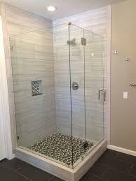 Corner Glass Shower Doors Frameless Top Belmont Sife