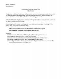 Absolutism essay