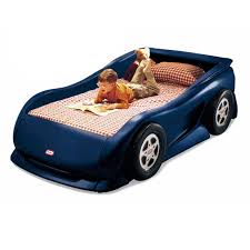 american blue sports car twin bed