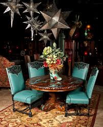 mesquite table with turquoise inlay turquoise inlay dining table rustic elegant furniture