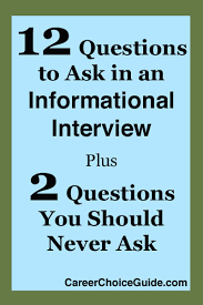 Good Questions To Ask The Interviewer 12 Informational Interview Questions To Ask 2 Things To