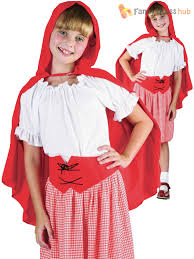 little red riding hood kids costume with hood s fancy dress accessories