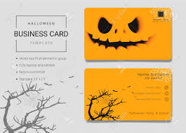 Halloween Business Cards Halloween Business Card Or Name Card Template Simple Style Also