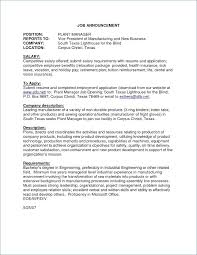 Unique Resume Magnificent Plant Manager Resume Unique Resume For Production Supervisor In