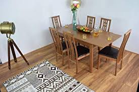 ahoc extending honey oak dining room table and 6 chairs solid wood dinner set cambridge