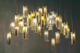 glass drop extra long rectangular chandelier installation large crystal chandelie
