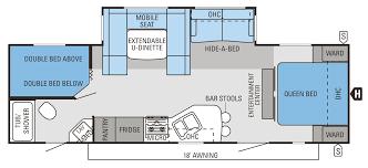 travel trailer floor plans. 2014 Eagle Travel Trailers 284BHS Floorplan Trailer Floor Plans N