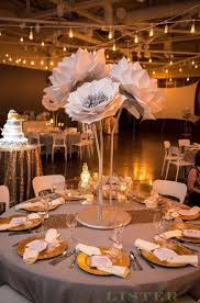 Paper Flower Wedding Centerpieces These Beautiful 36 Inch Tall Paper Flowers On Stems Make A