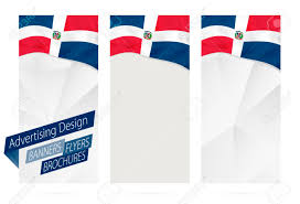Dominican Flag Design Design Of Banners Flyers Brochures With Flag Of Dominican Republic