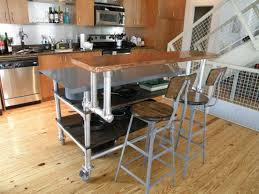 smart ways small space kitchen island rolling portable marble table sinks stunning bar stools silver metal wood chair stove stainless steel faucet oven