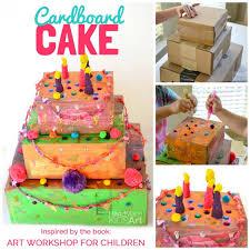 Cardboard Cake A Collaborative Art Activity Kids Steam Lab