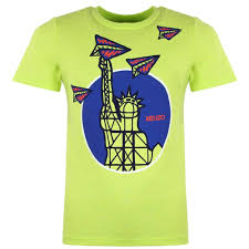 Lime Green Designer T Shirt Kenzo Kids Kenzo Descio T Shirt Lime Green