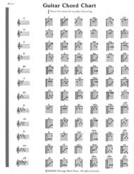 Music Notes Chart Guitar Elementary Guitar Note Chord Chart Lo Pp313 From