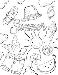 Preschool Summer Coloring Pages Contentparkco