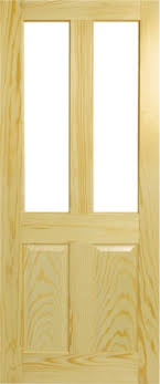 oxford clear pine fire door 2 panel glazed