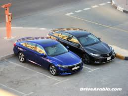 The 10th generation honda accord is wider, lower, and longer than the previous generations. Comparo 2018 Toyota Camry Grande Vs Honda Accord 2 0t Sport Drive Arabia