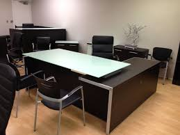 full size of shaped black frosted desk glamorous table modern reception corner glass contemporary officeworks desks