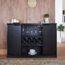 amazoncom furniture of america chapline modern wood wine bar