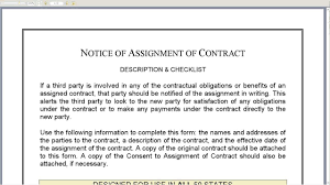 Assignment Of Contract Notice Of Assignment Of Contract YouTube 5