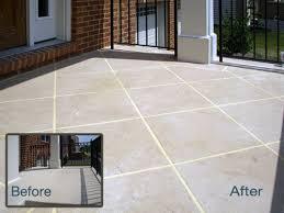 plain concrete patio. Decorative Concrete Walkway To Patio Plain