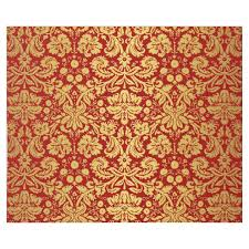 Gold Damask Background Elegant Vintage Red And Gold Royal Damask Pattern Wrapping Paper