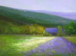 discover original art by sheila finch purple barn half moon bay oil painting