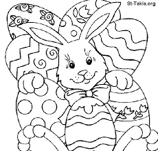 Coloring Pages For Easter Egg Bunny Easter Bunny Hiding Behind Giant