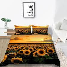 sun flower duvet cover set full queen