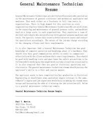 File Infoance Technician Resume Templates Industrial Automotive