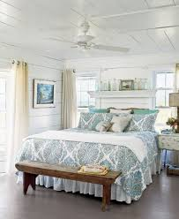 Wonderful Beautiful Beach And Sea Decor Inspiration For Your Bedroom : Nice Patterns  For Bed With Bedside Table And White Decoration Idea For Room With Long  Wooden ...