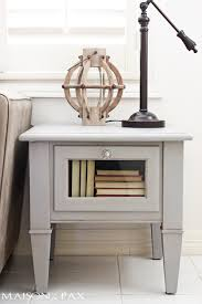 gorgeous simple gray chalk paint coffee and side table makeover maisondepax com