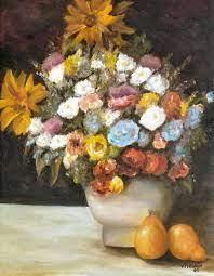 Flowers after Renoir Painting by Merle Blair