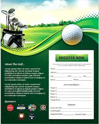 Poster Template Of Golf Tournament With List Holes